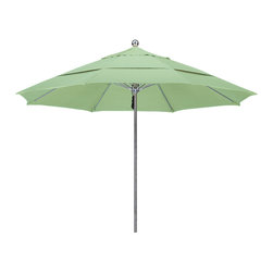 California Umbrella - 11 Foot Pacifica Fabric Stainless Steel Single Piece Pole Market Umbrella - California Umbrella, Inc. has been producing high quality patio umbrellas and frames for over 50-years. The California Umbrella trademark is immediately recognized for its standard in engineering and innovation among all brands in the United States. As a leader in the industry, they strive to provide you with products and service that will satisfy even the most demanding consumers.