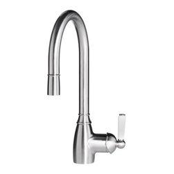 IKEA of Sweden - ELVERDAM Single lever kitchen faucet - Single lever kitchen faucet, pull-out, stainless steel color