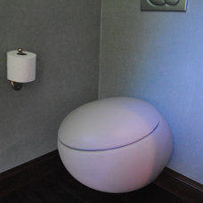 Modern Powder Room by Canyon Construction