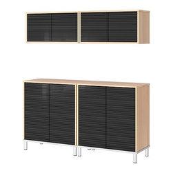 IKEA of Sweden/Eva Lilja Löwenhielm - EFFEKTIV Storage combination with cabinets - Storage combination with cabinets, beech veneer, high gloss black