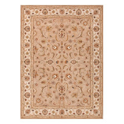 Jaipur Rugs - Hand-Tufted Oriental Pattern Wool Taupe/Ivory Area Rug (3.6 x 5.6) - The Poeme Collection takes traditional designs and re-invents them in a palette of modern, highly livable colors. Each design is made from premiere hand-spun wool and crafted with precision for the look and feel of a hand-knotted rug, at the more affordable cost of a hand-tufted. Poeme will effortlessly coordinate individual design elements to finish any room.