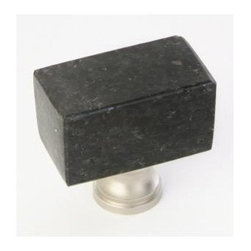 Q.M.I. - Square Knob in Black (Set of 10) - Includes mounting screws. Decorative. Easy to install. Limited lifetime warranty. Made from galaxy granite. 1.38 in. W x 0.75 in. D x 1.38 in. HAdd the finishing touches to your new vanity or cabinets or instantly update the look of your room with this hardware. Our cabinet knobs beautifully compliment any homes decor.