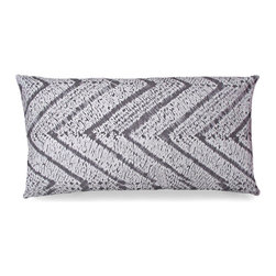 Casablanca Pillow - Subtle zig zags dance in symmetry across the length of the Casablanca Pillow. Excellent to add to a boudoir collection, lending depth to a styled bed that uses a large grouping of pillows. Perhaps you have the perfect complimentary wicker chair for this pillow, wherever you decide to place it, it is sure to add to the beauty of any space.