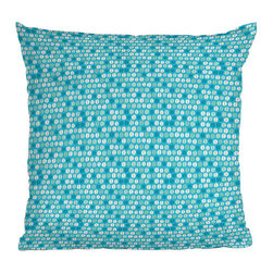 DENY Designs - DENY Designs Khristian A Howell Desert Daydreams 11 Throw Pillow - Let's make throw pillows cool again. We know you'll love the DENY Designs Khristian A Howell Desert Daydreams Throw Pillow as much as we do! With a busy white and blue pattern, each pillow uses a fade-resistant special dye printing process for long-lasting color and comfort at home. Based out of Denver, CO, DENY works with artists and art communities from all over the world to create custom home decor accessories just for you. Transform your life from ordinary to extraordinary instantly!Custom printed to orderFade resistantWoven polyester coverConcealed zipper6-color dye processKhristian A Howell collection