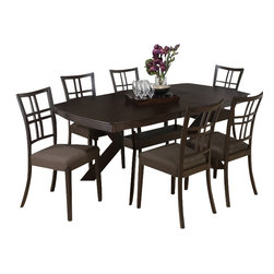 Jofran - Jofran 471 Ryder Ash 7-Piece Rectangular Dining Room Set - Combining traditional details with modern designs, Jofran has a collection to compliment any home decor. This 7-Piece rectangular dining Room Set belongs to 471 Series - Ryder ash collection by Jofran Inc. The classic formulas of color combinations are not valid in Jofran Furniture territory: here is ruled by laws solely of your own preferences and fantasies. Huge selection of colors in combination with a wide choice of shapes and sizes allow you to find among this variety precisely the furniture you've always wanted to see in your home. Jofran Furniture offers high quality, casual furniture pieces that are constructed from premium Asian hardwoods, and finished with beautiful veneers. Durable materials and quality assembly will help your furniture to serve for many years and will not let you be disappointed in your choice.