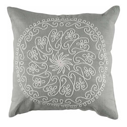 Rizzy Home - Gray and Ivory Decorative Accent Pillows (Set of 2) - T04097 - Set of 2 Pillows.
