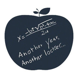 Apple Chalkboard Wall Decal - Use this apple every day and keep the TV dinners away.