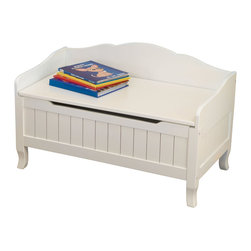 KidKraft - Nantucket Toy Box - White by Kidkraft - Finished with white wainscoting detail, our wood Nantucket Toy Chest is a perfect and stylish way to keep toys tidy.