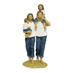 WL - 9 Inch Father Mother Son and Daughter Blue Jeans Family Figurine - This gorgeous 9 Inch Father Mother Son and Daughter Blue Jeans Family Figurine has the finest details and highest quality you will find anywhere! 9 Inch Father Mother Son and Daughter Blue Jeans Family Figurine is truly remarkable.