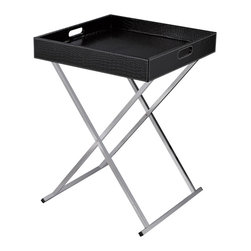 Sterling - Sterling 6043645 Sete Tray Table  Black - Sterling 6043645 Sete Tray Table  Black