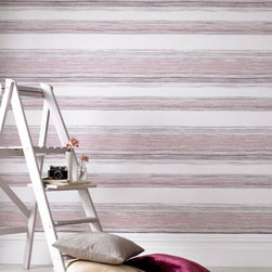 Graham & Brown - Twine Wallpaper - Our beautiful crafted pink, layers of twine are laced with mica to create an easy living organic stripe wallpaper which will create warm and a homely feel to your home.