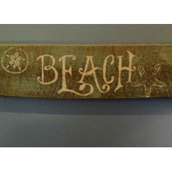Nautical Decor - A great sign with two hooks to hang next to the porch door.