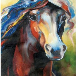 WL - Colorful Thoroughbred Horse Portrait Wall Art Painting Decoration - This gorgeous Colorful Thoroughbred Horse Portrait Wall Art Painting Decoration has the finest details and highest quality you will find anywhere! Colorful Thoroughbred Horse Portrait Wall Art Painting Decoration is truly remarkable.