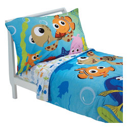 Crown Crafts Infant Products - Finding Nemo Friends Toddler Bedding Set Comforter Sheets - FEATURES: