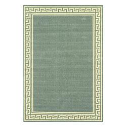 nuLOOM - nuLOOM Indoor/ Outdoor Greek Key Porch Rug, Moss, (5.3' X 7.9') - Material: 100% Polypropylene