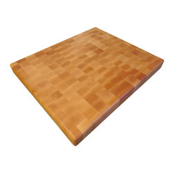 Armani Fine Woodworking - End Grain Maple Butcher Block Cutting Board - This beautiful, handmade End Grain Maple Butcher Block Cutting Board will travel from my small shop directly to your kitchen...I'm confident that you'll love the impeccable quality and care that goes into every handmade piece.