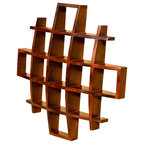 Reddish Brown Wood Tower Shape Small Curio Display Easel - Asian ...