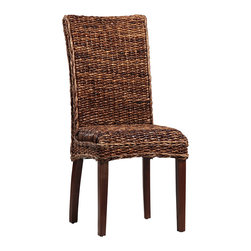 Dovetail Furniture - Medina Chair - Hand made in hardwood frame covered in twisted banana leaf.  Seating area cushioned beneath weave.