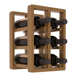 Wine Racks America® - 6 Bottle Counter Top/Pantry Wine Rack in Redwood, Oak Stain + Satin Finish - These counter top wine racks are ideal for any pantry or kitchen setting.  These wine racks are also great for maximizing odd-sized/unused storage space.  They are available in furniture grade Ponderosa Pine, or Premium Redwood along with optional 6 stains and satin finish.  With 1-10 columns available, these racks will accommodate most any space!!