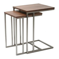 Denali Walnut Tables - Set of 2 - Get a little extra table space with the Denali Nesting Table Set. Personally, we're looking forward to expanding our indoor garden, but this set of 2 tables could also serve as a portable home office or an indulgent TV dinner tray for those evenings when all you want is a little nosh and a movie.