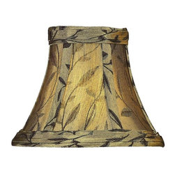 "Lite Source - Aged Gold/Bronze Jacquard Candelabra Shade 3"" - Bring back the glory of aged gold lamp shades by placing this beautiful Jacquard Candelabra Lamp Shade in your home. Admire the play of lights drifting through the gold and bronze patterns on the shade, and watch a simple lamp transform your home into a picturesque tableau of elegance. Flaunting slanted lights and playful designs, this is one shade you need to make room for in your lighting collection."