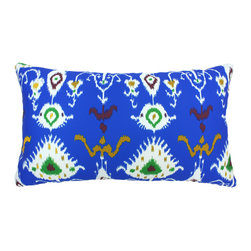 """DD - Tribal Ikat Outdoor Pillow 24"""" x 14"""" - This lovely Tribal Ikat Outdoor Pillow will add fun and flare to your outdoor space."""