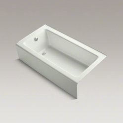 "KOHLER Bellwether(R) 60"" x 32"" alcove bath with integral apron and left-hand dra"