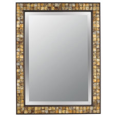 Quoizel VTBK43224Z Vetreo Brush Strokes Rectangular Wall Mirror