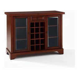 "Crosley - LaFayette Sliding Top Bar Cabinet - Dimensions: 20"" L x 64"" W x 36"" H"