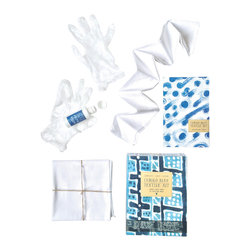 Yellow Owl Workshop - Indigo Blue Textile Kit - Never before has fabric decoration been so easy, fun and clean! Use this all-in-one kit to embellish the included scarf and your own cloth items with vivid indigo-colored fabric ink. This revolutionary permanent liquid color, which comes in a dripless applicator, flows like dye but can be applied like paint. The included booklet details instructions for tie-dye, shibori dye, vat dye, and resist dye techniques, as well as painting and stamping techniques. Built for easy clean up, maximum versatility, and chic results, the creative possibilities for this kit are endless!