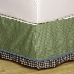 None - Cocalo Sports Fan Full Dust Ruffle - Attractive and stylish, this full dust ruffle features a flannel-inspired pattern. Crafted of a polyester- and cotton-blend fabric, this charming Sports Fan dust ruffle showcases a ruffled design.