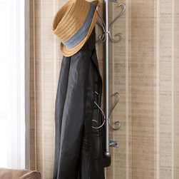 Upton Home - Upton Home Holton Wall Mount Silver Entryway Coat/ Hat Hanging Rack - Create a space for your outerwear without taking up floor space with this wall-mount hanging rack from Holton. The strong powder-coated metal has a silver finish,which will blend nicely with any decor,and the installation hardware is included.