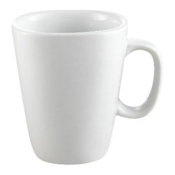 CAC China - King Square 8 oz White Square Mugs - Case of 36 - DescriptionsC.A.C China provides durable dinnerware at all levelsincluding super white porcelain fine bone china American white chinacolored glaze china and Asian style china. C.A.C China offers a variety of innovative shapes from square rectangular triangular wavy to round that will brighten up any tables for modern trendy restaurants hotels resorts clubs caterers cruises etc. All C.A.C China products are oven microwave and dishwasher safe.