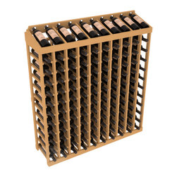 Wine Racks America® - Commercial Wine Rack RetailEDGE™ Standard Base with Display Top, Oak Stain - Our Standard Base with Display Top holds up to 120 bottles, giving your retail wine rack the display it needs to help customers shop with ease. With the solid Ponderosa pine option, 13 beautiful stain & finish combination choices, this retail wine rack kit is the perfect display storage solution for your retail store. Increase your bottom line today with RetailEDGE Series ™.