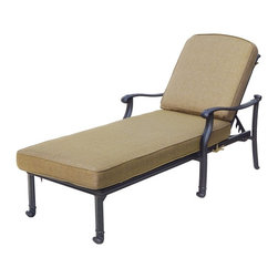 Darlee - Darlee San Marcos Chaise Lounge Chair Multicolor - DL2013-33/303 - Shop for Chaise Lounges from Hayneedle.com! Channel your inner sun goddess with the Darlee San Marcos Chaise Lounge Chair. Versatile comfortable and handsome this chaise lounge lets you soak up the sun in style. It features a multi-position recline feature and is graced with an interlocking X back detail and comfortably curved arms. Built to last from quality cast aluminum in a powder-coated antique bronze finish. The plush gloriously neutral sesame fabric cushions include ties to keep them in place. About DarleeSince 1993 Darlee has developed a wide variety of products to help you create your ideal outdoor-living environment. Working with high-quality materials Darlee achieves a large spectrum of styles that covers a range of interests as well as aesthetic tastes. From classic to contemporary from conversation sets to dining sets to fire pits Darlee has you covered for outdoor entertaining. Because the company knows good business is built on trust and integrity Darlee focuses on reliable quality construction and remains committed to providing customers with the best service possible.