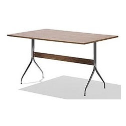 Nelson™ Swag Leg Rectangular Work Table - Designed by George Nelson for Herman Miller®  in 1958, this work table takes the swag legs from his desk design and applies them to a sleek work table that's never gone out of style.
