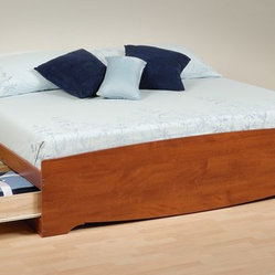 Prepac Cherry King 6-Drawers Platform Storage Bed