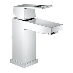 Grohe - Grohe 23129000 StarLight Chrome Eurocube Eurocube Single Hole Bathroom - Product Features:  Faucet body constructed of solid brass Covered under Grohe s limited lifetime warranty Grohe faucets are exclusively engineered in Germany Finishes will resist corrosion and tarnishing through everyday use - finish covered under lifetime warranty Stainless steel braided flexible supplies Single handle operation ADA compliant - complies with the standards set froth by the Americans with Disabilities Act for bathroom faucets WaterSense Certified product - using at least 30% less water than standard 2.2 GPM faucets, while still meeting strict performance guidelines Designed for use with standard U.S. plumbing connections  Product Technologies / Benefits:  Starlight Finish: Continuously improving over the last 70 years Grohe's unique plating process has been refined to produce and immaculate shiny surface that is recognized as one of the best surface finishes the world over. Grohe plates sub layers of copper and/or nickel to ensure that a completely non-porous, immaculate surface awaits the chrome layer. This deep, even layered chrome surface creates a luminous and mirror like sheen. SilkMove Cartridge: The rich and smooth handling of our single lever faucets conveys pure quality. As you change the temperature from hot to cold, one ceramic disc glides effortlessly across the other with absolute precision. These cartridges are manufactured in a high-tech process and feature discs made from a space-proven ceramic alloy. The SilkMove cartridge is yet another example of design and technology fusing to bring you an enhanced water experience. QuickFix Plus: Precision engineering has enabled Grohe to simplify the installation process by reducing the complexity and number of parts required to fit a product. This installer-focu