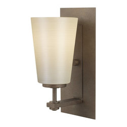 Murray Feiss - Murray Feiss Sunset Drive Transitional Wall Sconce X-BC-10941SV - The golden undertones of the pearl glass shade are complimented by the warm undertones of the rich Corinthian Bronze finish on this Murray Feiss wall sconce. From the Sunset Drive Collection, it features clean lines and details that give it a look that will effortlessly blend in with a variety of decors.