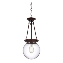 Savoy House Lighting - Savoy House Lighting 7-3300-1-28 Glass Filament Transitional Pendant Light - Salute the bygone days of incandescent illumination with these exceptional  Savoy House glass pendants. The nostalgic bulbs are on full display inside clear glass globes in 1- or 3-light styles. Available in English  Bronze ,  Polished Nickel, and Satin N