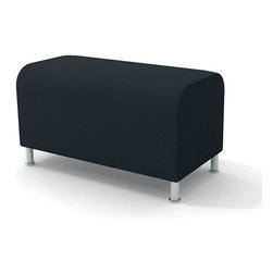 Turnstone - Steelcase - Alight Ottoman Bench Gray - Getting benched has never looked so good.