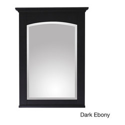 None - Avanity Westwood 24-inch Mirror in Dark Ebony Finish - The Westwood poplar wood framed mirror features either a dark ebony or white washed finish with a simple transitional design. It matches the Westwood vanity collection for a coordinated look and includes mounting hardware that makes leveling easy.