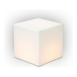 Gus Modern Lightbox - This cool modern cube glows with warm light, an unexpected surprise in any room you choose to use it in.