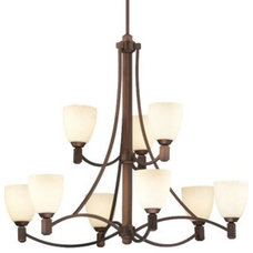 Chandeliers Crescendo Two-Tier Chandelier by Forecast Lighting