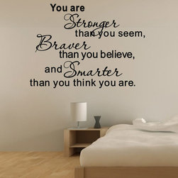 ColorfulHall Co., LTD - Cheap Wall Decals You Are Stronger Than You Seem - Cheap Wall Decals You Are Stronger than You Seem
