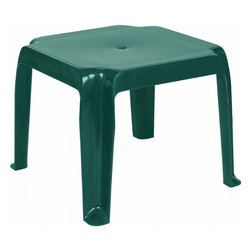 Compamia - Sunray Resin Square Side Table - Green - Sunray Resin Square Side Table - Green