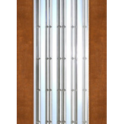"2-1/4"" Thick Contemporary Mahogany Door Beveled Art Glass - SKU#    NW-1672-Ext-1Brand    AAWDoor Type    ExteriorManufacturer Collection    New World DoorsDoor Model    Door Material    WoodWoodgrain    MahoganyVeneer    Price    1650Door Size Options    30"" x 80"" (2'-6"" x 6'-8"")  $036"" x 80"" (3'-0"" x 6'-8"")  +$4030"" x 96"" (2'-6"" x 8'-0"")  +$20036"" x 96"" (3'-0"" x 8'-0"")  +$240Core Type    SolidDoor Style    ModernDoor Lite Style    Full Lite , 1 LiteDoor Panel Style    Home Style Matching    ContemporaryDoor Construction    Engineered Stiles and RailsPrehanging Options    Prehung , SlabPrehung Configuration    Single DoorDoor Thickness (Inches)    2.25Glass Thickness (Inches)    3/4Glass Type    Triple GlazedGlass Caming    Glass Features    Insulated , Tempered , BeveledGlass Style    Clear , Matte , Art , Glass Texture    Clear , Matte , Art , Glass Obscurity    Door Features    Door Approvals    Door Finishes    Door Accessories    Weight (lbs)    340Crating Size    25"" (w)x 108"" (l)x 52"" (h)Lead Time    Slab Doors: 7 daysPrehung:14 daysPrefinished, PreHung:21 daysWarranty    1 Year Limited Manufacturer WarrantyHere you can download warranty PDF document."