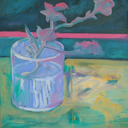 """""""After Van Gogh: Still Life With Pink Flowers"""" Artwork - This is another work from the van gogh period, which was my early work during my apprenticeship with osvaldo romberg."""