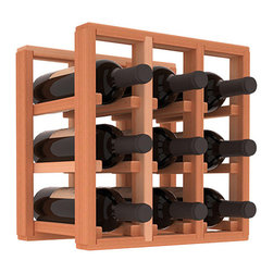 Wine Racks America® - 9 Bottle Counter Top/Pantry Wine Rack in Redwood, (Unstained) - These counter top wine racks are ideal for any pantry or kitchen setting.  These wine racks are also great for maximizing odd-sized/unused storage space.  They are available in furniture grade Ponderosa Pine, or Premium Redwood along with optional 6 stains and satin finish.  With 1-10 columns available, these racks will accommodate most any space!!