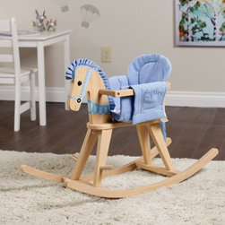 Fantasy Fields - Fantasy Fields Rocking Horse - TD-0002A - Shop for Rocking Toys from Hayneedle.com! Rock your baby to sleep or let your toddler trot alone on the Teamson Design Rocking Horse. This versatile rocking horse is designed to grow with your child; a cushioned bassinet will cradle your little bundle and when she's old enough you can remove the railing to inspire independent play. The hand-carved frame is constructed of sturdy MDF and features hand-painted bridle details. Handles and foot pegs are included for safety and stability so you don't have to worry when your rider is rocking and rolling and having a ball. With your choice of natural or ivory finishes this traditional toy rocking horse will adorn a pretty pink nursery or blue bedroom. Recommended ages 18 months-3 years. Dimensions: 34.5L x 12.5W x 22.5H inches. About Teamson DesignBased in Edgewoood N.Y. Teamson Design Corporation is a wholesale gift and furniture company that specializes in handmade and hand painted kid-themed furniture collections and occasional home accents. In business since 1997 Teamson continues to inspire homes with creative and colorful furniture.